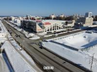 """Вид сверху на гипермаркет """"Карусель"""""""