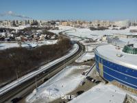 """Вид сверху на 30-ю автодорогу у ТРЦ """"Каскад"""""""