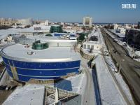 Вид сверху на ТРЦ Каскад и Президентский бульвар