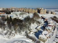 Вид на корпуса ЧГПУ и коттеджи улицы Зеленая зимой