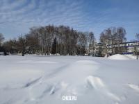 Сквер зимой