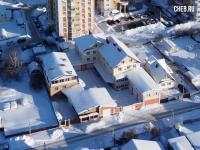 Вид сверху на коттеджи по улице Сельская