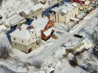 Вид сверху на дома по улице Зеленая