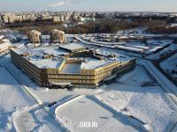 Вид сверху на школу в Волжском-3