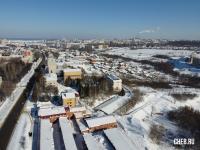 Вид сверху на район улицы Гражданская