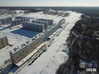 Вид сверху на микрорайон Садовый