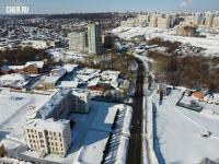 Вид сверху на улицу Суворова