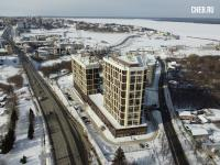 Вид сверху на улицу Калинина и улицу Сергия Радонежского