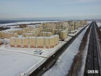 Вид сверху на Новый город: Чебоксарский проспект и трасса в Новочебоксарк