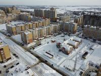 Вид сверху на район улицы Новогородская
