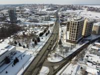 Вид сверху на начало улицы Калинина