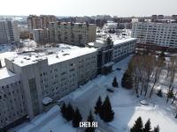 Вид сверху на здание Чувашгражданпроекта