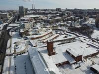 Вид сверху на район улицы Калинина