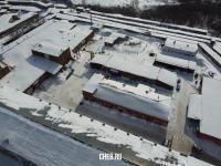 "Фабрика ""Лента"" зимой с высоты"
