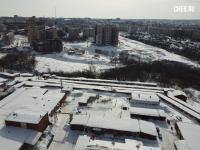 Вид сверху на фабрика Лента