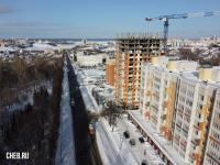 Вид сверху на улицу Богдана Хмельницкого