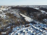Вид сверху на территорию вокруг реки Трусиха и Гагаринский мост