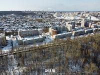 Вид сверху на район улицы Короленко