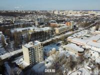 Вид сверху на улицу Гражданская