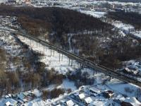 Вид сверху на Гагаринский мост