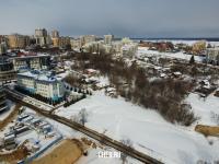 Вид на частный сектор в Замамье - ул. Нижегородская зимой