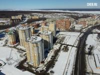 Вид сверху на дома по улице Университетская