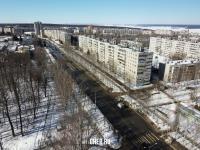Вид сверху на улицу Мичмана Павлова зимой