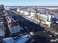 Вид сверху на улицу Калинина в районе РОВД
