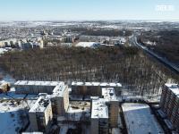 Вид сверху на Дубовую рощу зимой