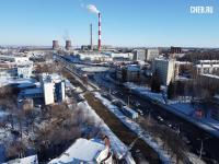 Вид сверху на окончание улицы Калинина