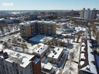 Вид сверху на район улицы Красина