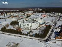 Вид сверху на школу в Сосновке