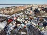 Вид сверху на коттеджи по улице Лебедева