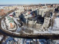 Вид сверху на район улицы Лебедева