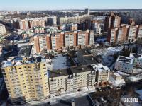 Вид сверху на дома по ул. Университетская