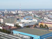 Панорама: Вид на центр Чебоксар с Базового проезда