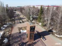 Сквер имени Чапаева - Вид сверху на памятник Василию Ивановичу