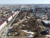 Вид сверху на сквер Чапаева