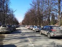 Парковка на переулке Бабушкина