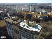 Вид на крышу долгостроя ЖК Гагарин поз. 2