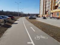 Пешеходная и велосипедная дорожки на улице Миначева