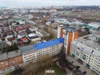 Вид сверху на дома на улице Олега Кошевого