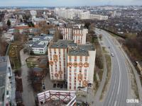 Вид сверху на общежитие - ул. Пирогова 18к1
