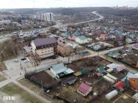 Вид сверху на дома по улице Чкалова