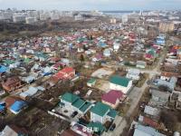 Вид сверху на частный сектор: улицы Некрасова и Лермонтова