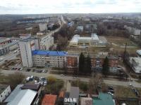 Вид сверху на дома по улице Олега Кошевого
