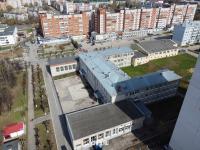 Вид сверху на здание гимназии №2
