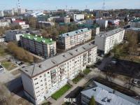 Вид сверху на дома по улице Энгельса