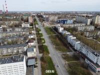 Вид сверху на улицу 50 лет Октября