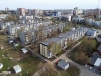 Вид сверху на пятиэтажки на улице 50-лет Октября